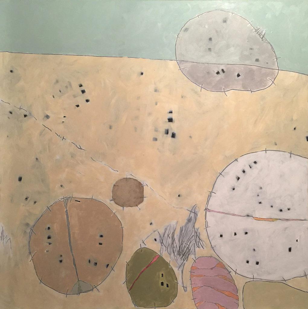 Beach Pebbles III, Acrylic on canvas, 48x48, 2017