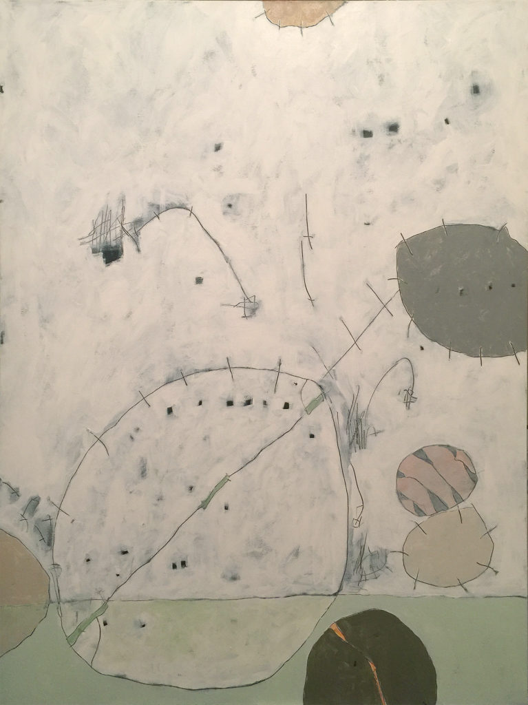 Beach Pebble V, Acrylic on canvas, 36x48, 2017