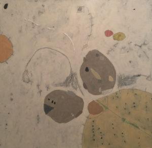 Pebbles & Milkweed II, Acrylic on canvas, 48x48, 2017