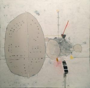 Remains, Acrylic on canvas, 48x48, 2017