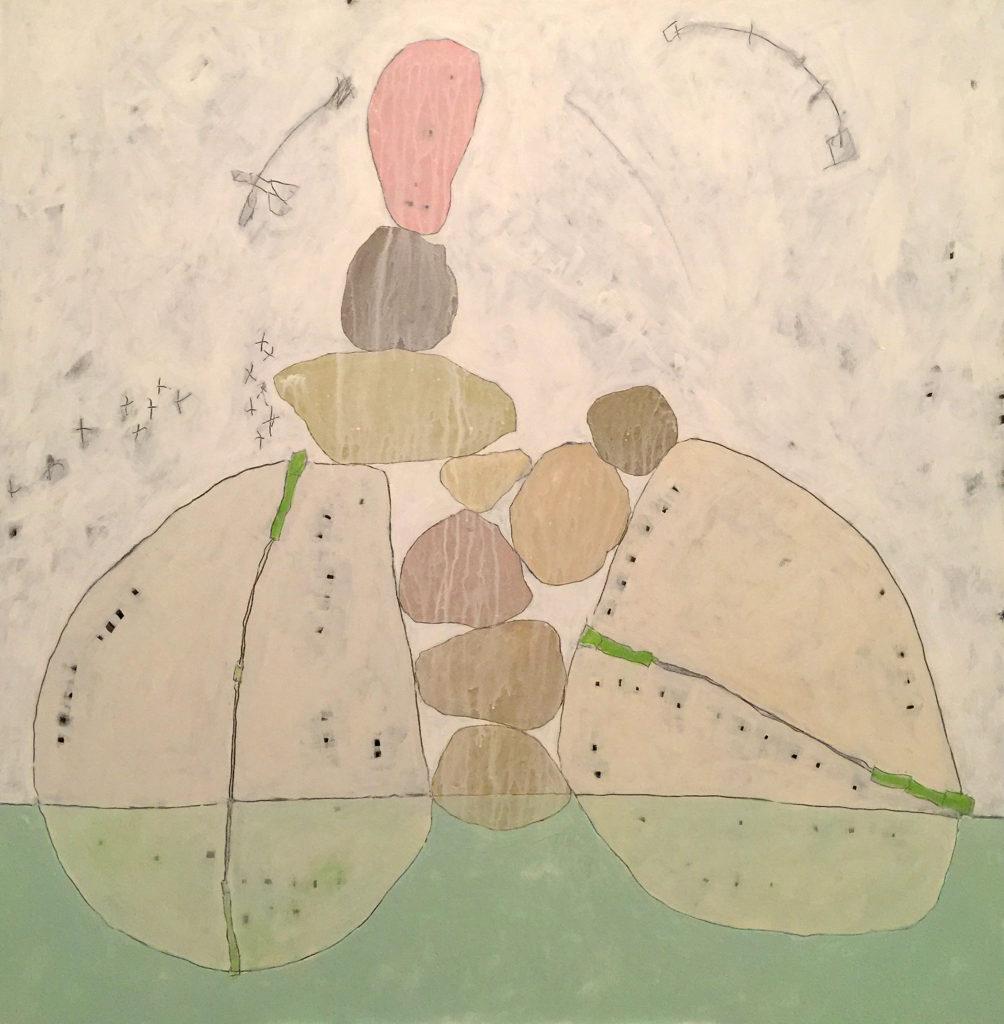 Seafoam, Acrylic on canvas, 48x48, 2017