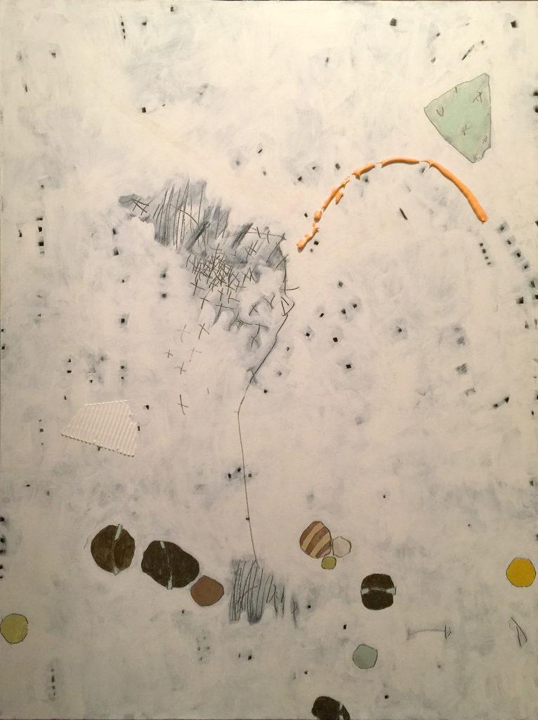 Small Pebbles, Acrylic on canvas, 36x48, 2017