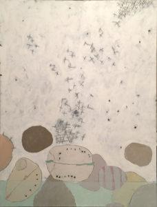 Waterline, Acrylic on canvas, 36x48, 2017