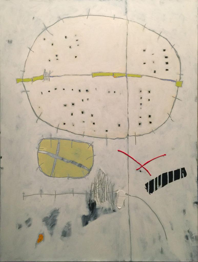 White Pebble, Acrylic on canvas, 36x48, 2017